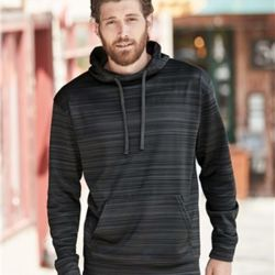 8661 Odyssey Striped Performance Fleece Hooded Sweatshirt Thumbnail