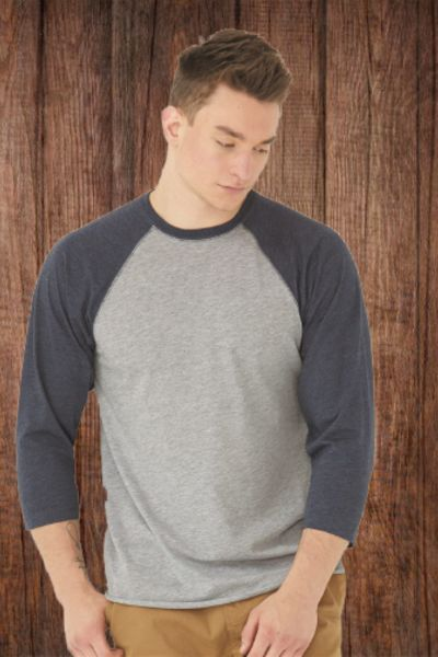 6930 Adult Vintage Jersey Three-Quarter Sleeve Baseball T-Shirt Thumbnail