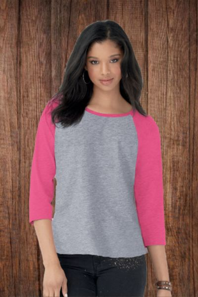 3530 Ladies' Jersey 3/4 Sleeve Baseball T-Shirt Thumbnail